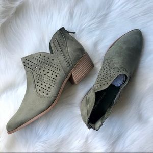 Sueded & Perforated Booties (price firm)
